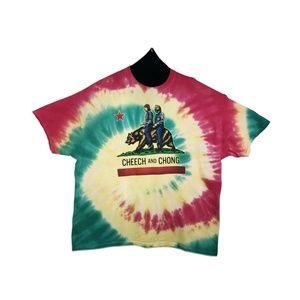 California Buds Men's Tie Dye Graphic T-Shirt
